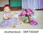 Pretty Little Girl In Dress...