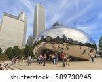 chicago  illinois  usa  ... | Shutterstock . vector #589730945