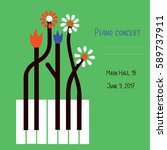 piano concert design of banner... | Shutterstock .eps vector #589737911