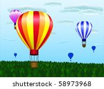 different hot air balloons... | Shutterstock . vector #58973968