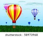 different hot air balloons... | Shutterstock . vector #58973968
