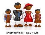 african family 3d model | Shutterstock . vector #5897425