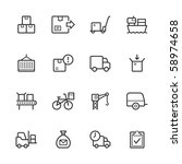 logistics icons. lines have not ... | Shutterstock .eps vector #58974658