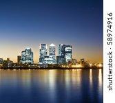 Canary Wharf, London. - stock photo