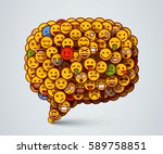 creative chat icon made of many ... | Shutterstock .eps vector #589758851
