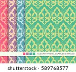 seamless pastel background set...   Shutterstock .eps vector #589768577