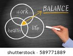 work  health and life balance... | Shutterstock . vector #589771889
