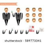 emoji face icons. boy character ... | Shutterstock .eps vector #589773341