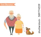 couple of older people.... | Shutterstock .eps vector #589774559