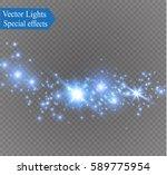 glow light effect. vector... | Shutterstock .eps vector #589775954