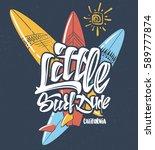summer tropical surf print... | Shutterstock .eps vector #589777874