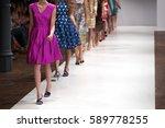 fashion show  catwalk runway... | Shutterstock . vector #589778255