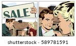 stock illustration. people in... | Shutterstock .eps vector #589781591