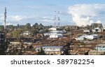 rusty roofs of a slum in east... | Shutterstock . vector #589782254