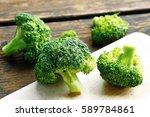 broccoli full of antioxidant... | Shutterstock . vector #589784861