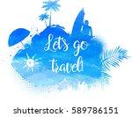 abstract painted splash shape... | Shutterstock .eps vector #589786151
