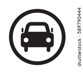 flat black car web icon in... | Shutterstock . vector #589790444
