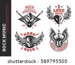 rock music festival logo ...   Shutterstock .eps vector #589795505