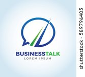business talk logo template | Shutterstock .eps vector #589796405