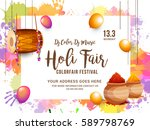 indian holi traditional... | Shutterstock .eps vector #589798769