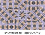 illustration of mosaic images ... | Shutterstock . vector #589809749