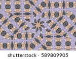 illustration of mosaic images ... | Shutterstock . vector #589809905