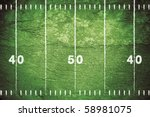 grunge football field with... | Shutterstock . vector #58981075