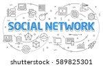 linear flat illustration for... | Shutterstock .eps vector #589825301