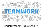 linear flat illustration for...   Shutterstock .eps vector #589826114