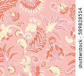 seamless pattern with fantasy... | Shutterstock .eps vector #589828514