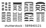 black ribbon banners set.... | Shutterstock .eps vector #589840121