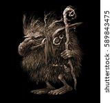 fantasy illustration of a fairy ...   Shutterstock . vector #589843475