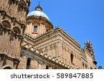 palermo majestic cathedral of... | Shutterstock . vector #589847885