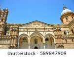palermo majestic cathedral of... | Shutterstock . vector #589847909