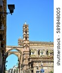 palermo majestic cathedral of... | Shutterstock . vector #589848005