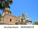 palermo majestic cathedral of... | Shutterstock . vector #589848035