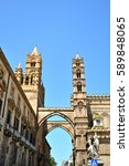 palermo majestic cathedral of... | Shutterstock . vector #589848065