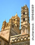 palermo majestic cathedral of... | Shutterstock . vector #589848089