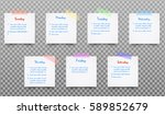 set of white realistic  paper... | Shutterstock .eps vector #589852679