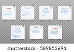 set of white realistic paper... | Shutterstock .eps vector #589852691