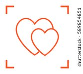 Two Heart  Linear Vector Icon...