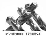 steel drills hss  high speed... | Shutterstock . vector #58985926