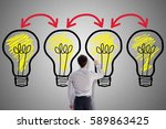 brainstorming concept drawn by... | Shutterstock . vector #589863425