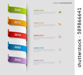time line info graphic with... | Shutterstock .eps vector #589866641