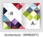 vector square minimalistic... | Shutterstock .eps vector #589866971