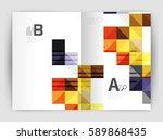square annual report brochure... | Shutterstock .eps vector #589868435