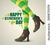 vector creative saint patrick... | Shutterstock .eps vector #589870559