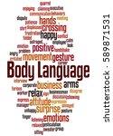 body language  word cloud... | Shutterstock . vector #589871531