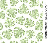 tropical seamless pattern with...   Shutterstock .eps vector #589879097