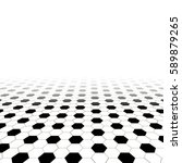 monochrome hexagonal checked... | Shutterstock .eps vector #589879265